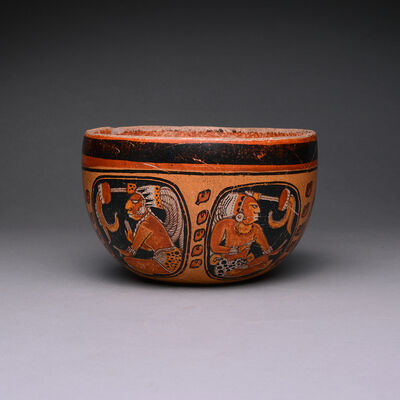 Unknown Pre-Columbian, 'Mayan Orange Terracotta Bowl', 500-1000