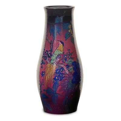 Edward T. Hurley, 'Large Jewel Porcelain vase with pheasants', 1922