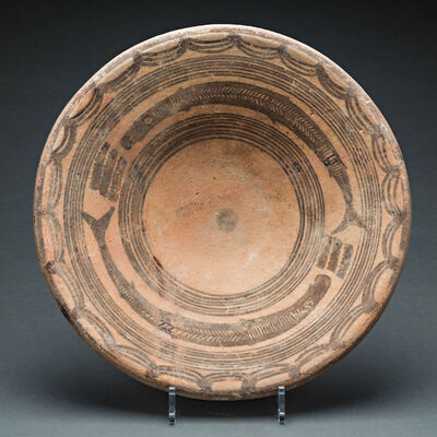 Unknown Asian, 'Indus Valley Dish Decorated with Fish', 3000 BCE-2000 BCE