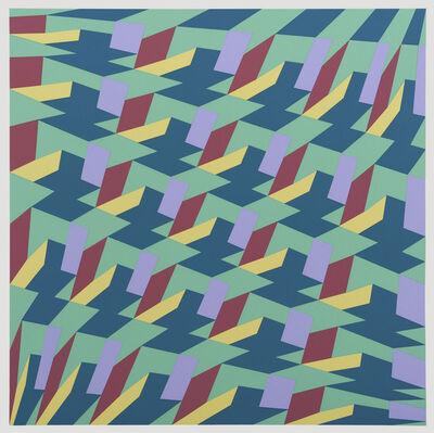 Franco Grignani, '5 diagonali iperboliche', 1988