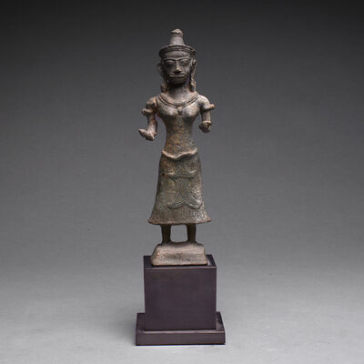 Khmer 14th Century, 'Khmer Bronze Sculpture of Uma', ca. 13th Century