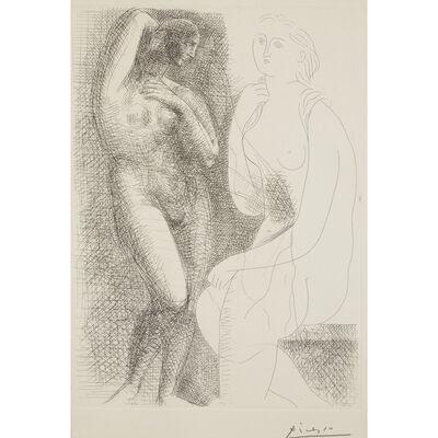 "Pablo Picasso, 'Femme Nue Devant Une Statue From ""La Suite Vollard""', 1931 (printed in 1939)"