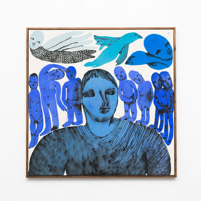 Emma Kohlmann, 'Stained and confused blue people', 2021