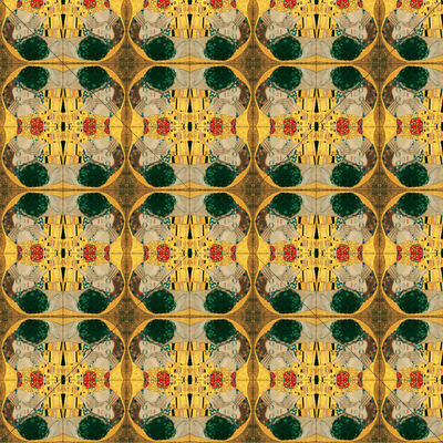 Hans Thierstein, 'Quatroscopy of Klimt's The Kiss', 2018