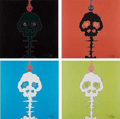 Takashi Murakami, 'Time Bokan-black; Time Bokan-red; Time Bokan-blue; and Lime Green-Time', 2001-08