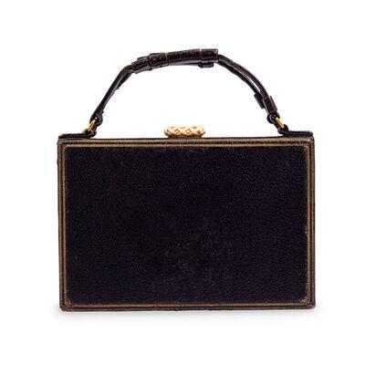 Wiener Werkstätte, 'Handbag Josef Hoffmann Leather Gold embossed Wiener Werkstatte ca. 1924', ca. 1924