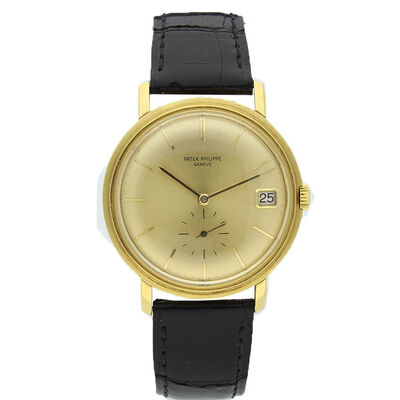 Patek Philippe, '18ct yellow gold automatic wristwatch with date Ref: 3445.', 1965