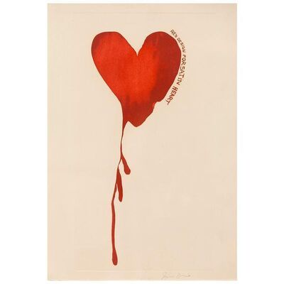 Jim Dine, 'Satin Heart', 1968