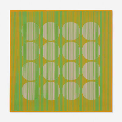 Julian Stanczak, '16 Circles in Green from the Eight Variants series', 1970