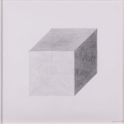 Sol LeWitt, 'Cube on Perspective', 1982