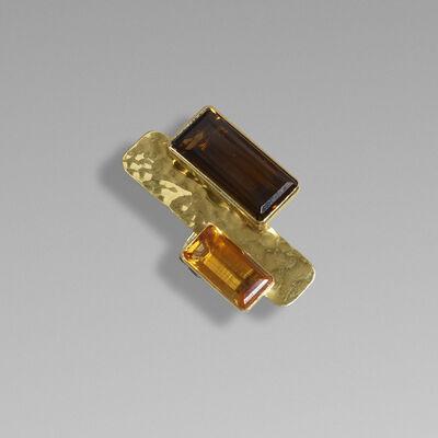 Robert Lee Morris, 'Gold and quartz ring'