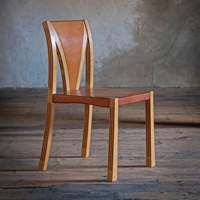 Petter Bjørn Southall, 'Lattice Chair in oak with oak-bark-tanned leather', 2016