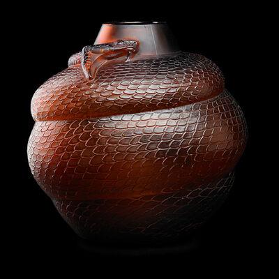 Lalique, 'Serpent vase', des. 1924