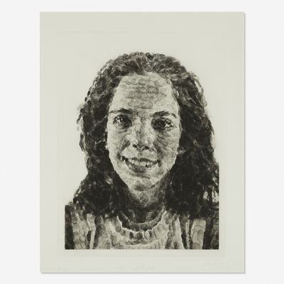 Chuck Close, 'Georgia Fingerprint I', 1985