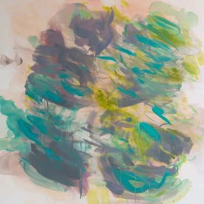 Rebecca Meanley, 'Untitled (Peach-Grey-Turquoise-Lime)', 2017