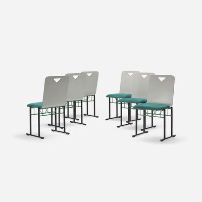 Yrjö Kukkapuro, 'A500 dining chairs, set of six', 1985