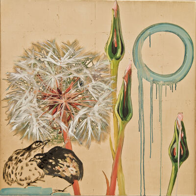 Hung Liu, 'Dandelion with Birds II', 2016