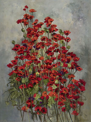 John Alexander, 'Big Poppies', 2019