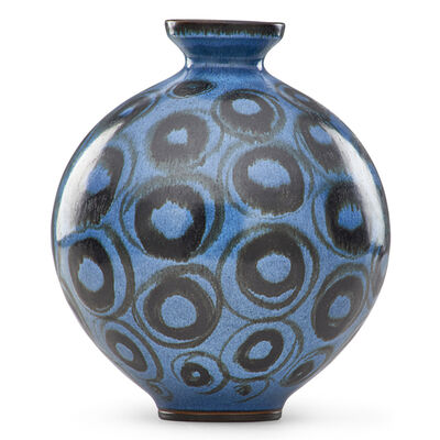 Rupert J. Deese, 'Bulbous vase with circles, Claremont, CA'