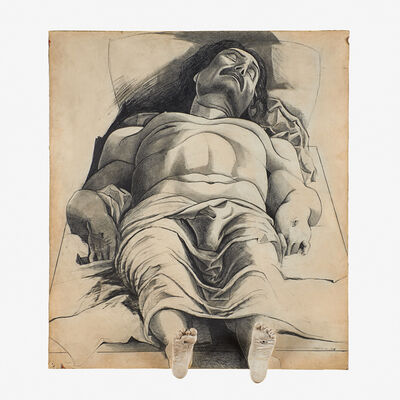 Marisol, 'Homage to Mantegna (Study After Mantegna's Dead Christ)'