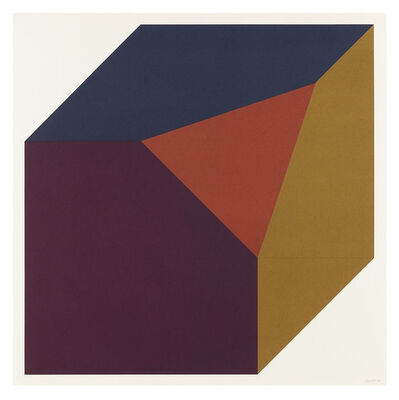 Sol LeWitt, 'Forms Derived from a Cube (Colors Superimposed) 5', 1991