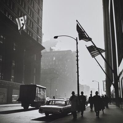 Vivian Maier, 'VM19XXW03181 American Flags Street Scene', Printed 2017