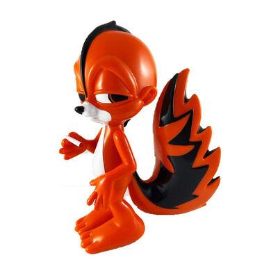 Ron English, ''Punk Skunk' x SFBI (orange)', 2018