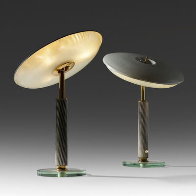Pietro Chiesa, 'table lamps, pair', c. 1940