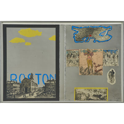 """Larry Rivers, 'Cover and """"40th Regiment"""" from Boston Massacre', 1970"""