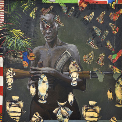 Hassan Musa, 'I love you with my AK47 (Femme éthiopienne)', 2019