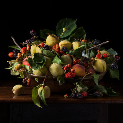 Paulette Tavormina, 'Blackberries and Peaches, after G.G.', 2013