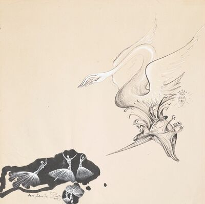 Salvador Dalí, 'Study for Scenography and Costume for the Ballet Bacchanale', 1939