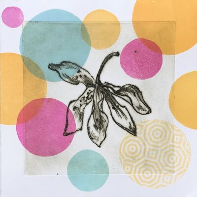 Liz Parkinson, 'Garden Cycle, Orchideas #6, drypoint and relief print on Japanese washi', 2019