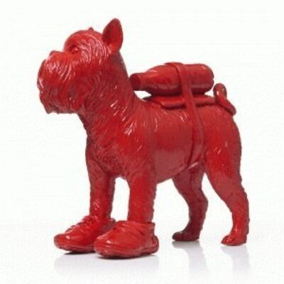 William Sweetlove, 'Cloned Griffon Bruxellois with pet bottle - Red'