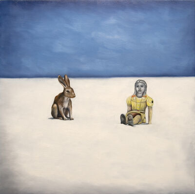 Kendra Lynn Bulgrin, 'I am sorry for us  (yellow girl and jackrabbit in White Sands)              ', 2012