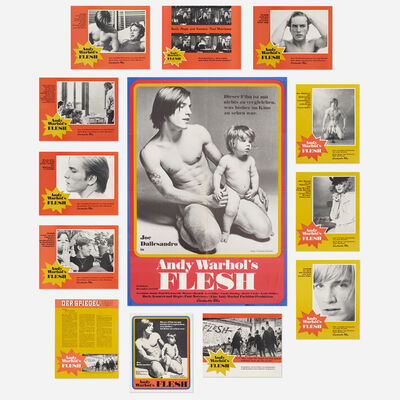 Andy Warhol, 'Flesh film poster and lobby cards', c. 1968