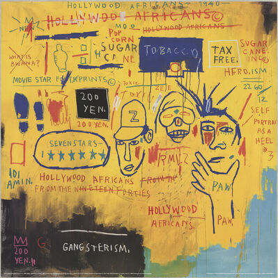 Jean-Michel Basquiat, 'Hollywood Africans', 1993