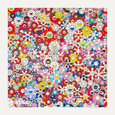 Takashi Murakami, 'Shangri-la Shangri-la Shangri-la Pink Silkscreen', 2017