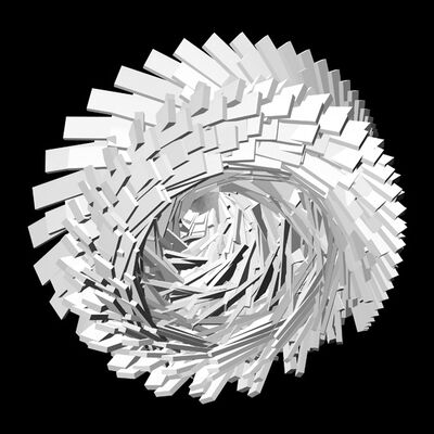Miguel Chevalier, 'Fractile Flowers B&W 2', 2008