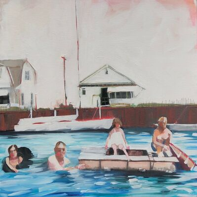 Ruth Shively, 'Charlie's Family Swim', 2020