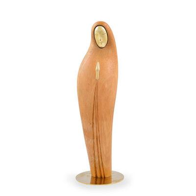 Hagenauer, 'Werkstatte Hagenauer Vienna Lady Wood and Brass ca. 1940 Austria Art Deco', ca. 1940