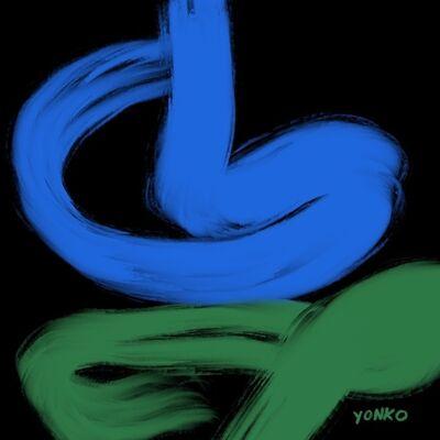 Yonko Kuchera, 'Black, Blue, and Green', 2019