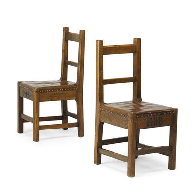 Roycroft, 'Pair of side chairs, East Aurora, NY', ca. 1905