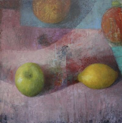 Melissa Husted-Sherman, 'Green Apple on Pink', 2020