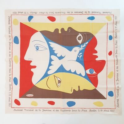 Pablo Picasso, 'YOUTH FESTIVAL SCARF', 1951