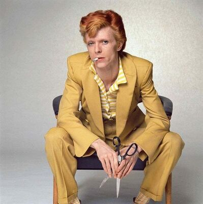 Terry O'Neill, 'David Bowie, Yellow Suit', 1974