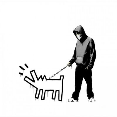 Banksy, 'Choose Your Weapon (White)', 2010