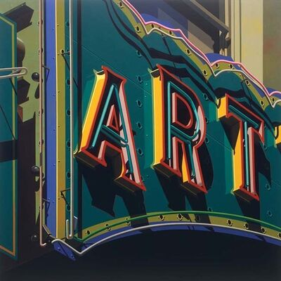 Robert Cottingham, 'Art', 2009