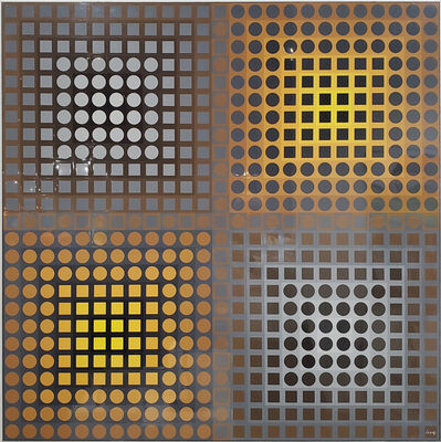 Victor Vasarely, 'EG-1-2 POS Yellow/Grey', 1972