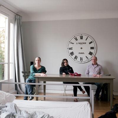 Tanja Hollander, 'Self Portrait with Sarah Khatry + Jeff Sharlet, Paris, France', 2015